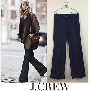 J Crew K5219 Wide Leg Trousers Jeans Dark Wash 24